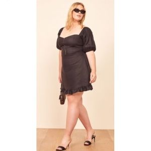 Reformation Seattle Dress in Black, Size 16